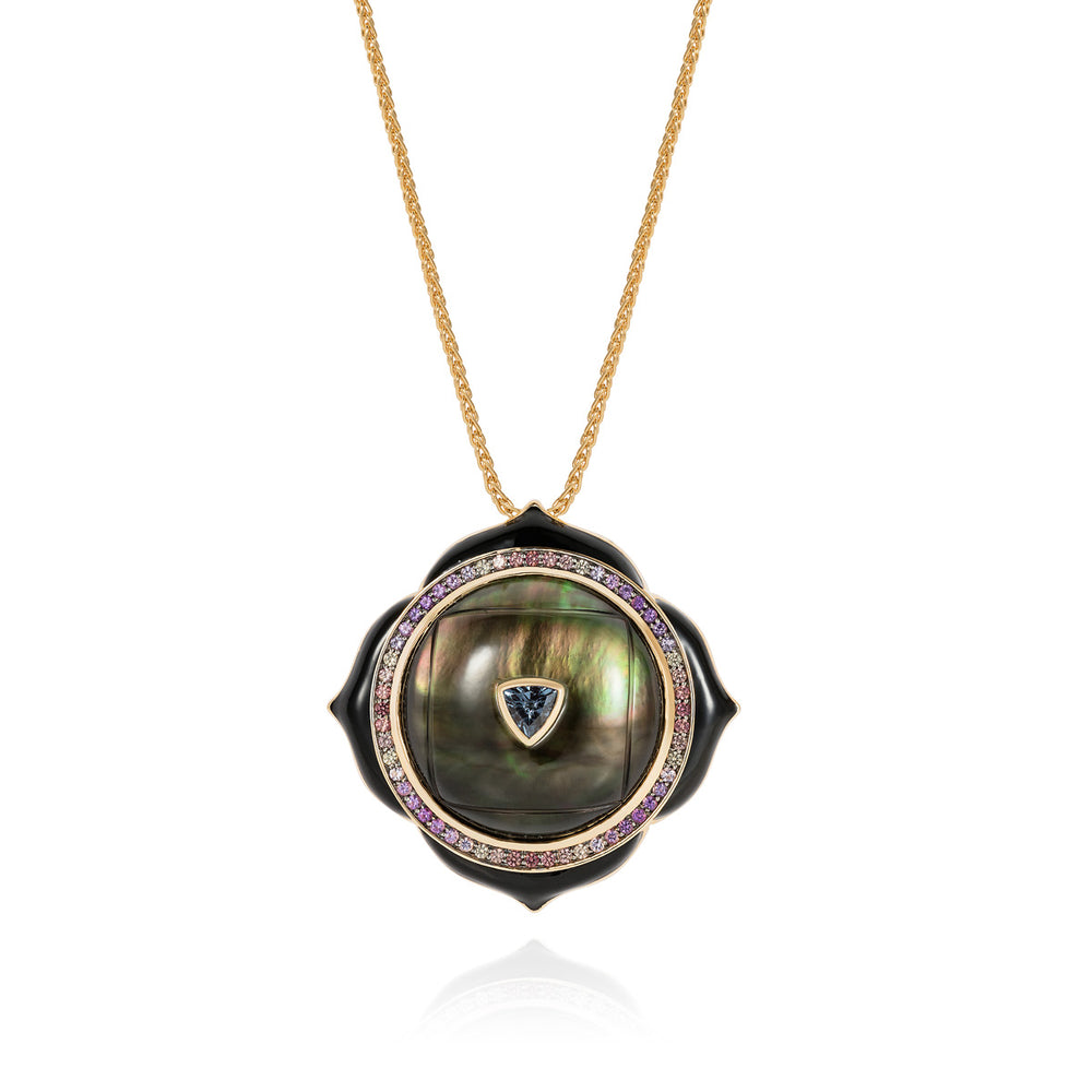 Noor-Fares-Smokey-Quartz-Mother-of-Pearl-Sapphire-Pave-Pendant
