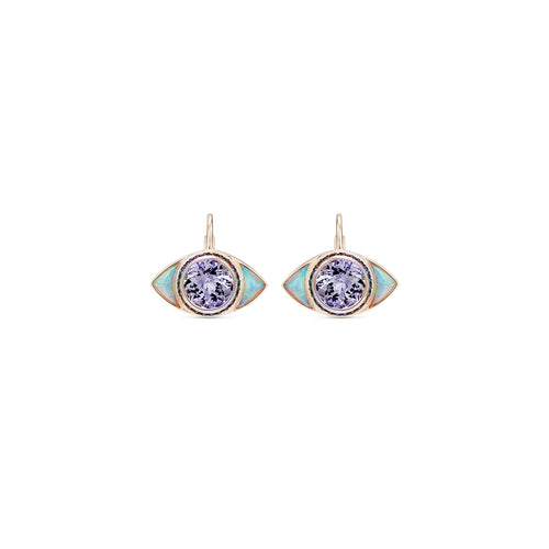 One of a Kind Tanzanite Dormeuse Earrings