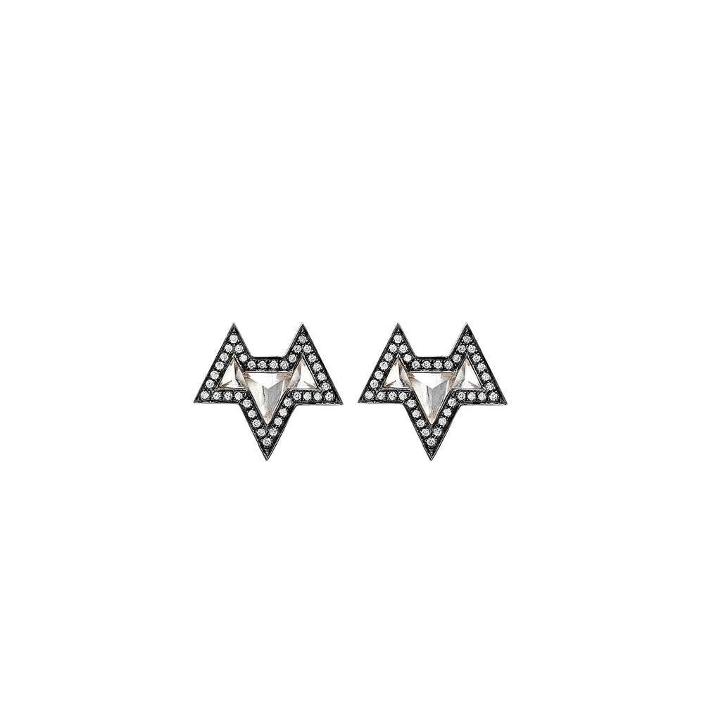 Noor-Fares-White-Topaz-Diamond-Earrings