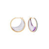 Noor Fares amethyst crescent earrings