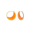 Noor Fares carnelian crescent earrings