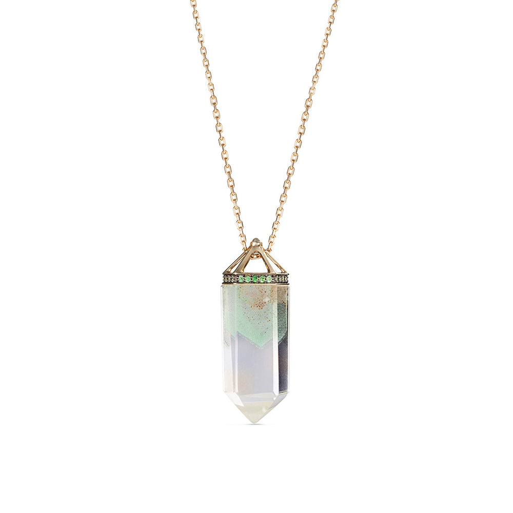 Noor-Fares-Green-Phantom-Crystal-Pendant Edit alt text  Edit alt text