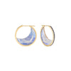 Noor Fares moonstone crescent earrings