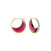 Noor Fares red garnet crescent earrings