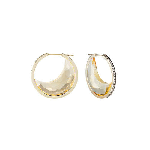Faceted Chandra Crescent Earrings
