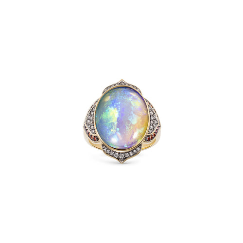 Noor Fares Cocktail Nirvana Opal Diamond Ring