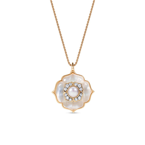 Noor Fares Mother of Pearl Diamond Pendant