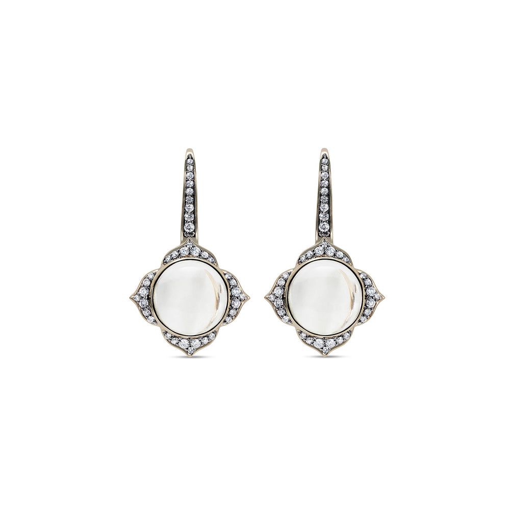 Noor Fares Nirvana Diamond Crystal Quartz Earrings