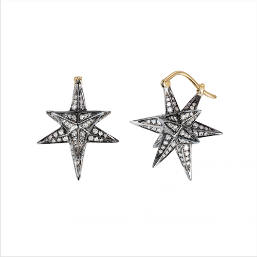 "Geo 101 Merkaba Dormeuse ""3D"" Earrings"