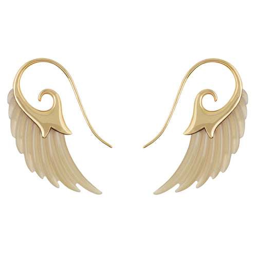 Light horn Wing Earrings