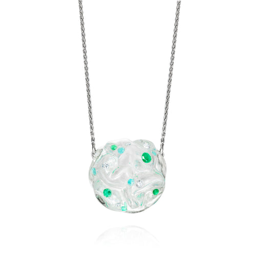 Divina Cloud Emerald Pendant