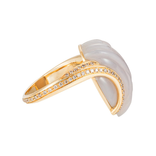 Glyptique Carved Wing Ring