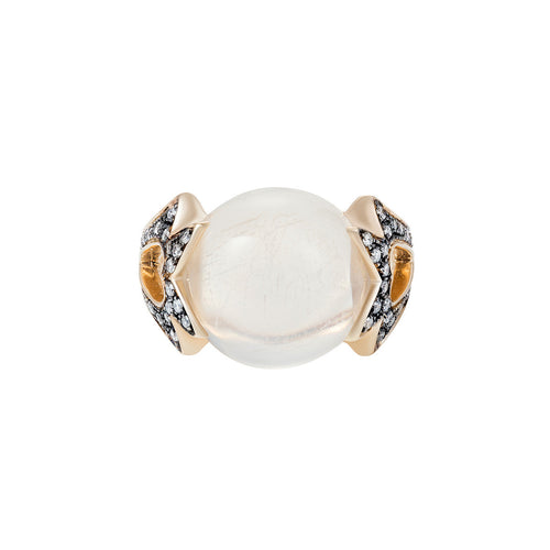 Rock Crystal Amore Round Cabochon Ring