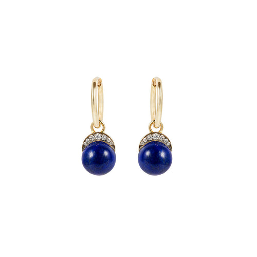 Lapis Luzuli Mala Drop Earrings