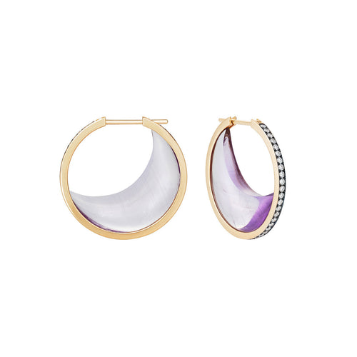 Amethyst Chandra Crescent Earrings