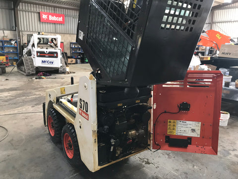 Bobcat S70 rear with Lanoguard treatment