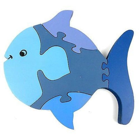 Wooden Fish Puzzle Handmade and Fair Trade