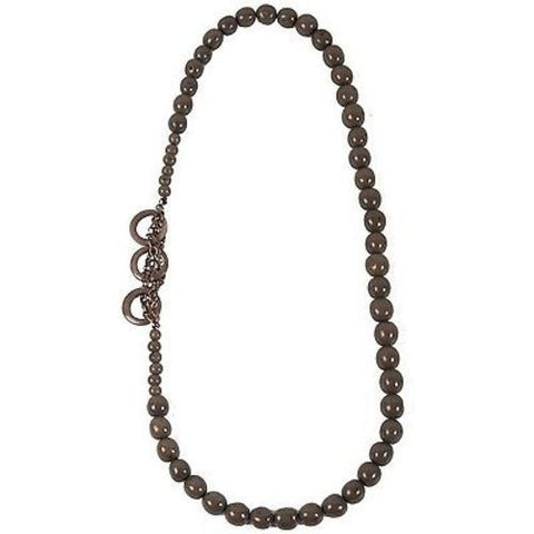 Circle Chain Necklace in Soft Gray Handmade and Fair Trade