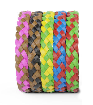 Mosquito Repellent Leather Bracelets