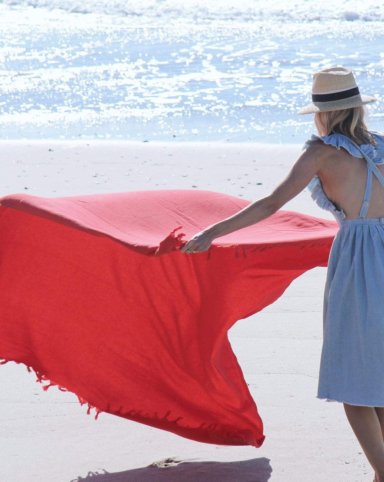Beach Blanket - Red
