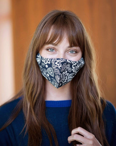 Reusable Face Masks Navy Print