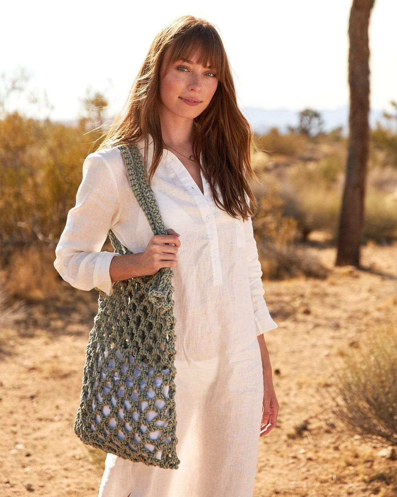 Monterey Net Tote in Olive