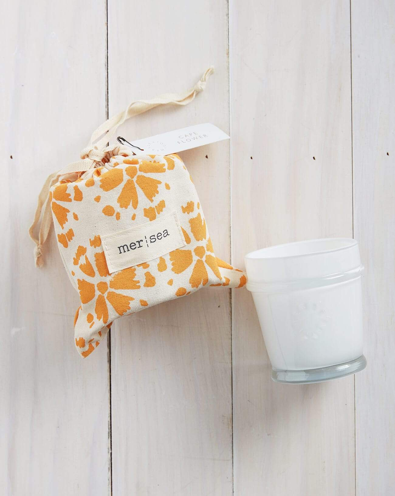 Cape Flower Printed Sandbag Candle