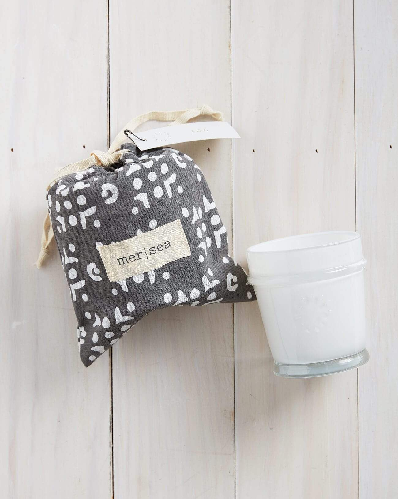 Fog Printed Sandbag Candle