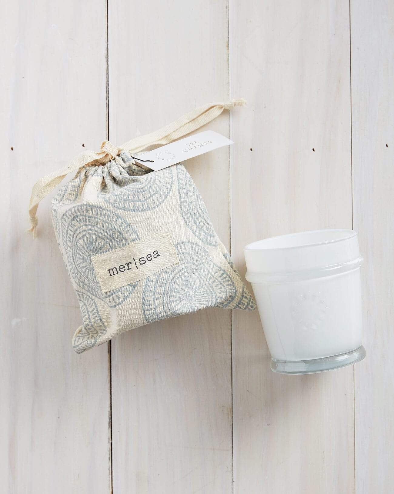 Sea Change Printed Sandbag Candle