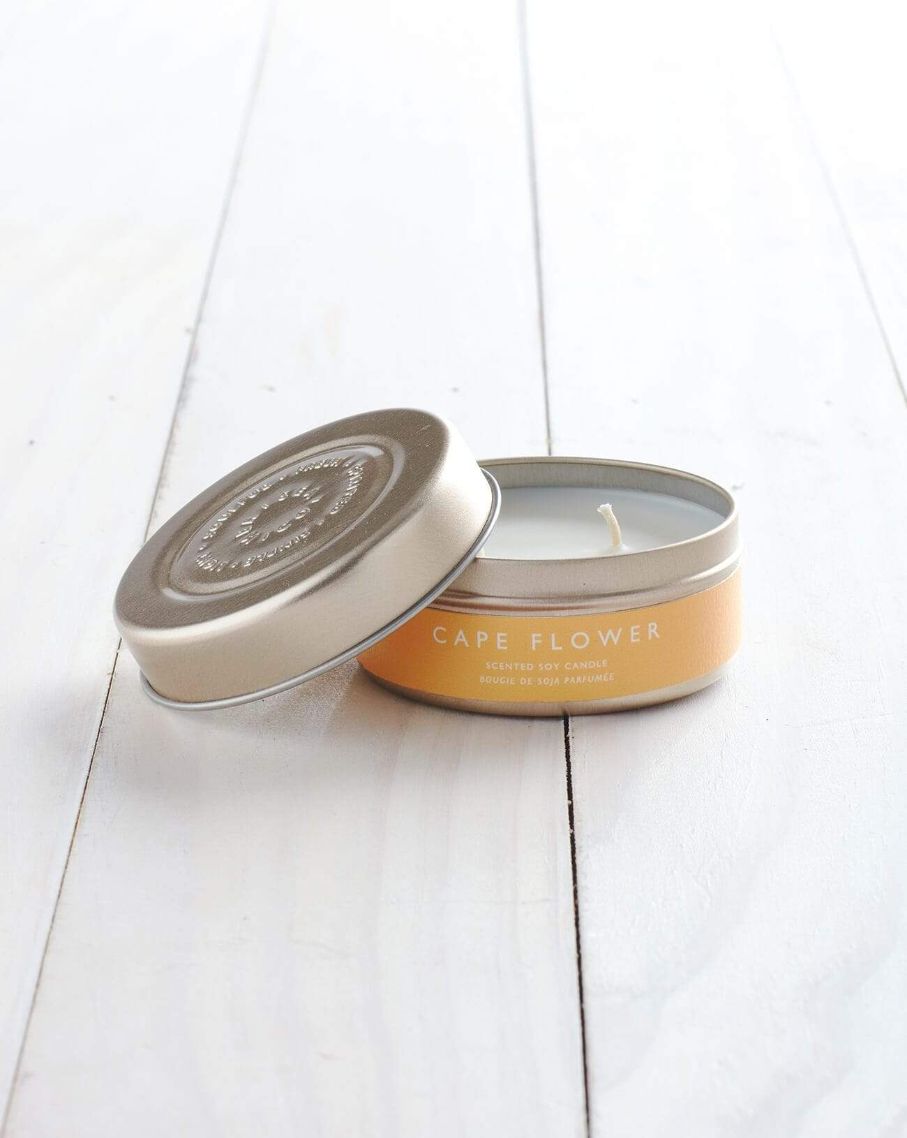 Cape Flower Tin Candle