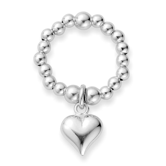 MILA Rings Sterling Silver Puff Heart