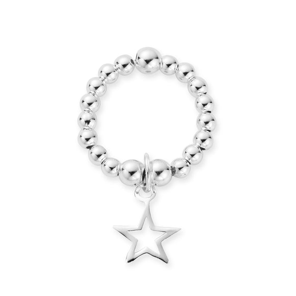 MILA Rings Sterling Silver Open Star Ring