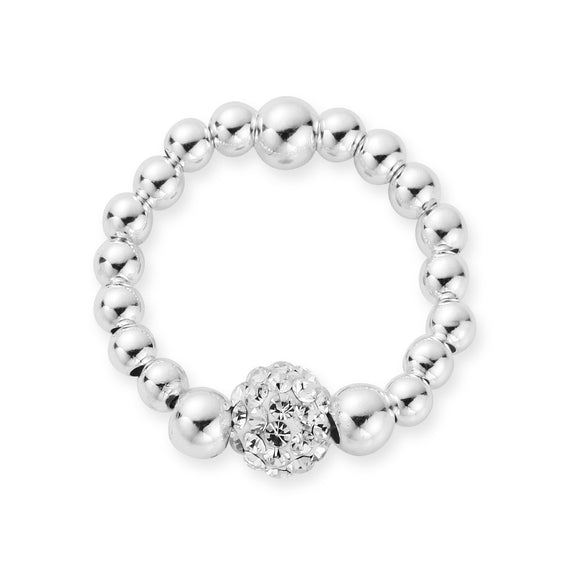 MILA Rings Sterling Silver Shamballa Ring