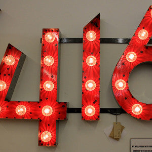 marquee lighting, signage 416, Toronto
