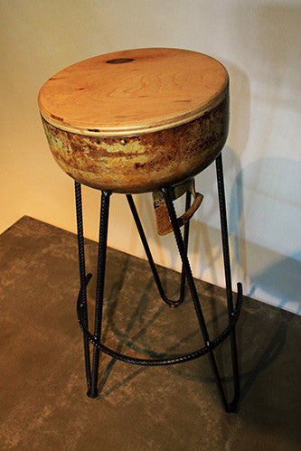 Gas Canister Bar Stools