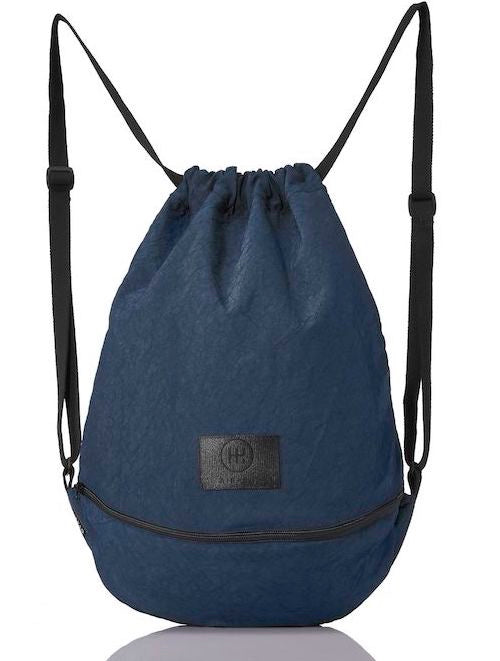 product picture of a blue bag from the front. Blue gymbag