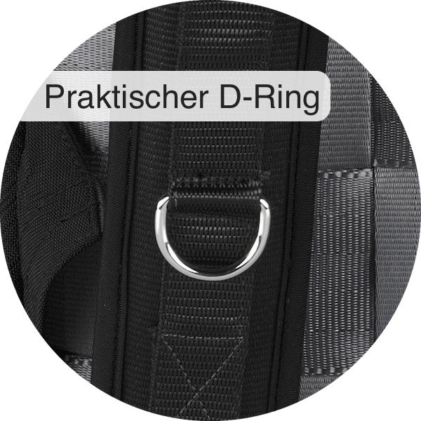 D-ring on right strap of the Airpaq