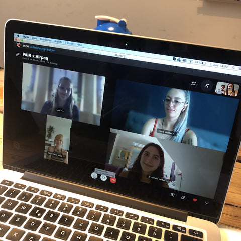 Airpaq im Skype-Interview mit Team FAIR