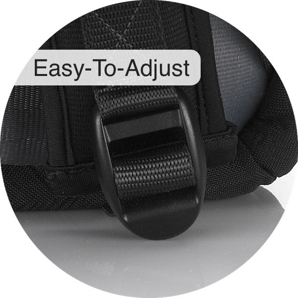 Ladder locks to adjust the Airpaq's straps