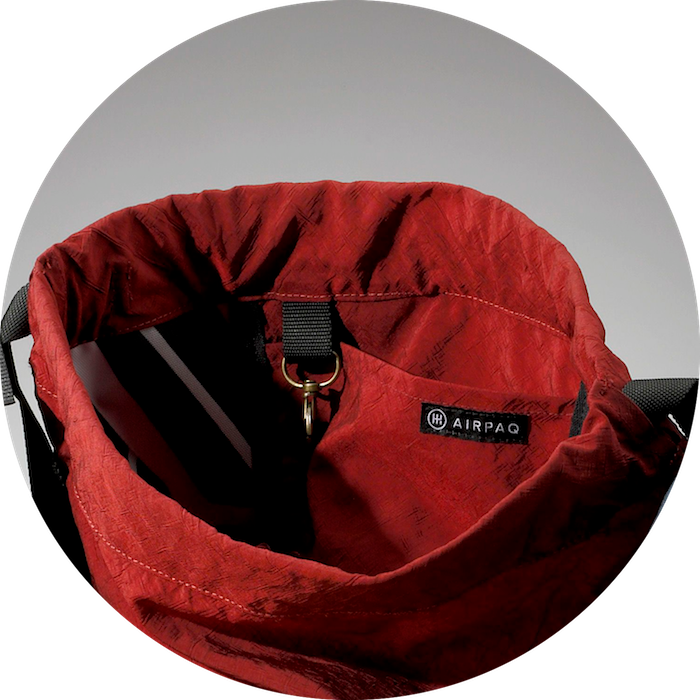 A small pocket on the interior of the Airpaq gymbag