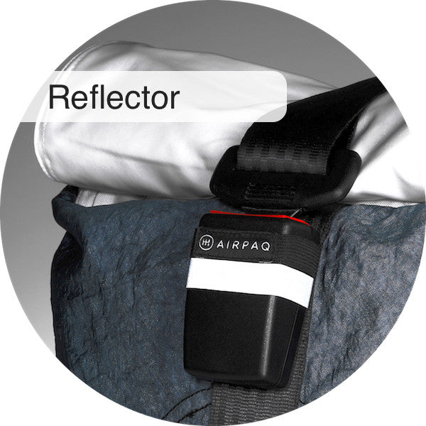 Reflector on buckle of the Airpaq
