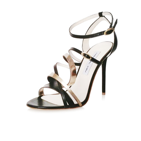 Black Leather Helix II Sandal