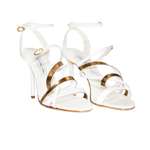 White Leather Helix II Sandal