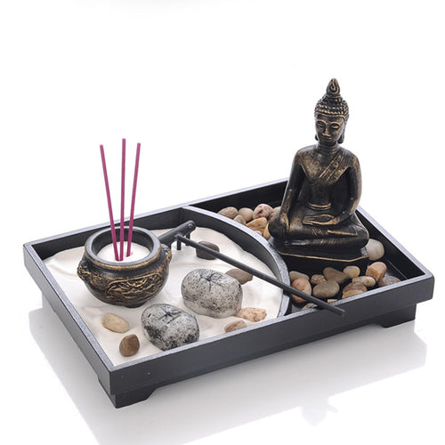 Zen Garden Sand Meditation Decor Set