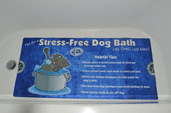 stress free bathtub safety mat for dogs and cats