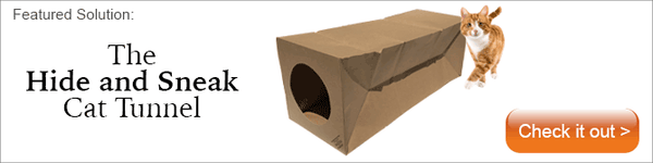 The Original Hide and Sneak paper tunnel cat toy