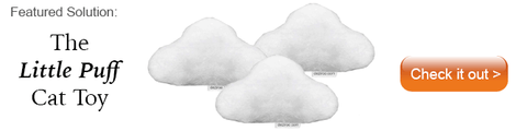 Three plush cloud cat toys