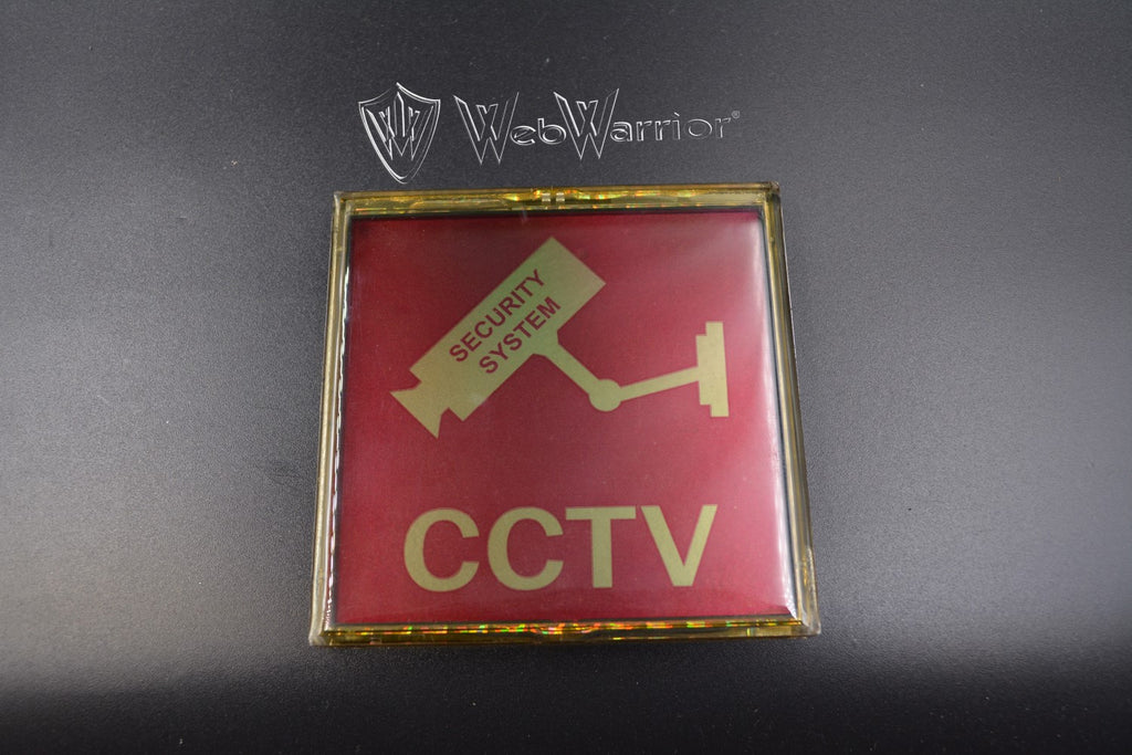 Lighted CCTV Sign
