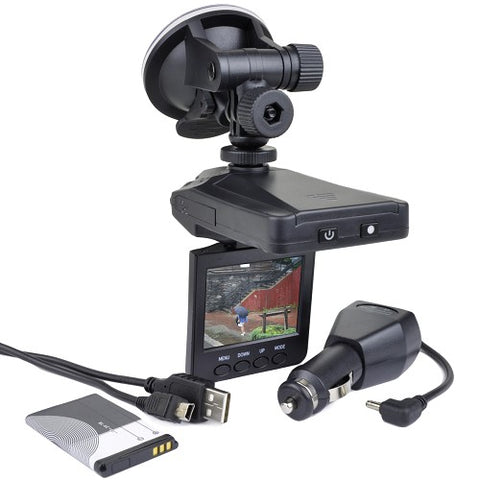 HD Auto Digital Video Recorder w/ fold down color monitor (Dashcam)