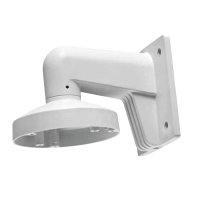 Wall mount bracket for H-Series Dual Eye turret dome cameras w/ junction box